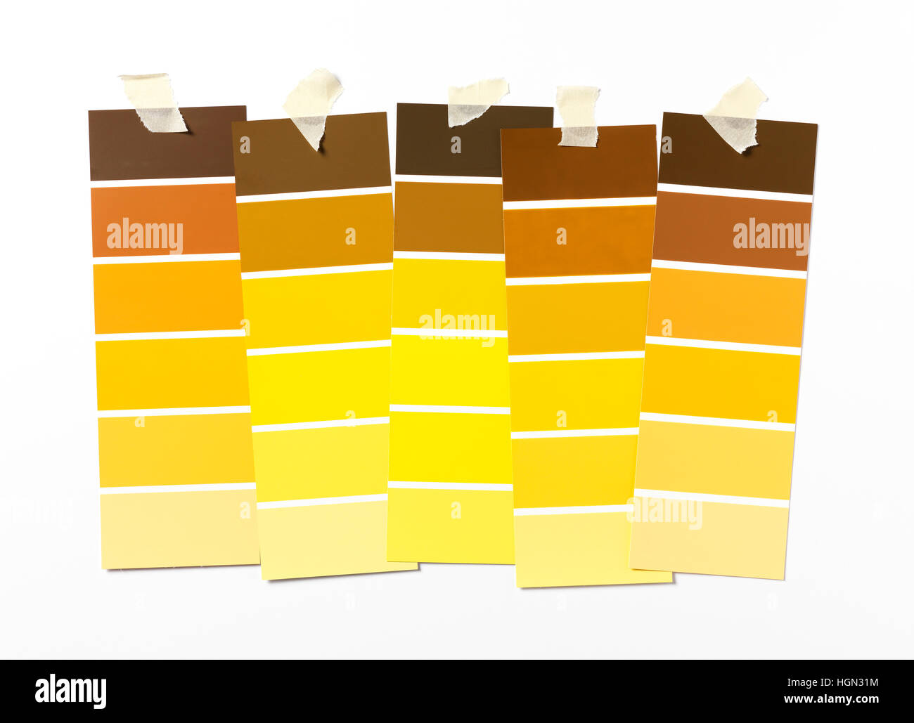 Yellow Paint swatch on wall Stock Photo: 130770464 - Alamy