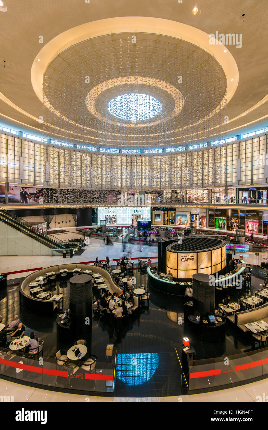 Fashion Avenue, Dubai Mall, Dubai, United Arab Emirates - Stock Image