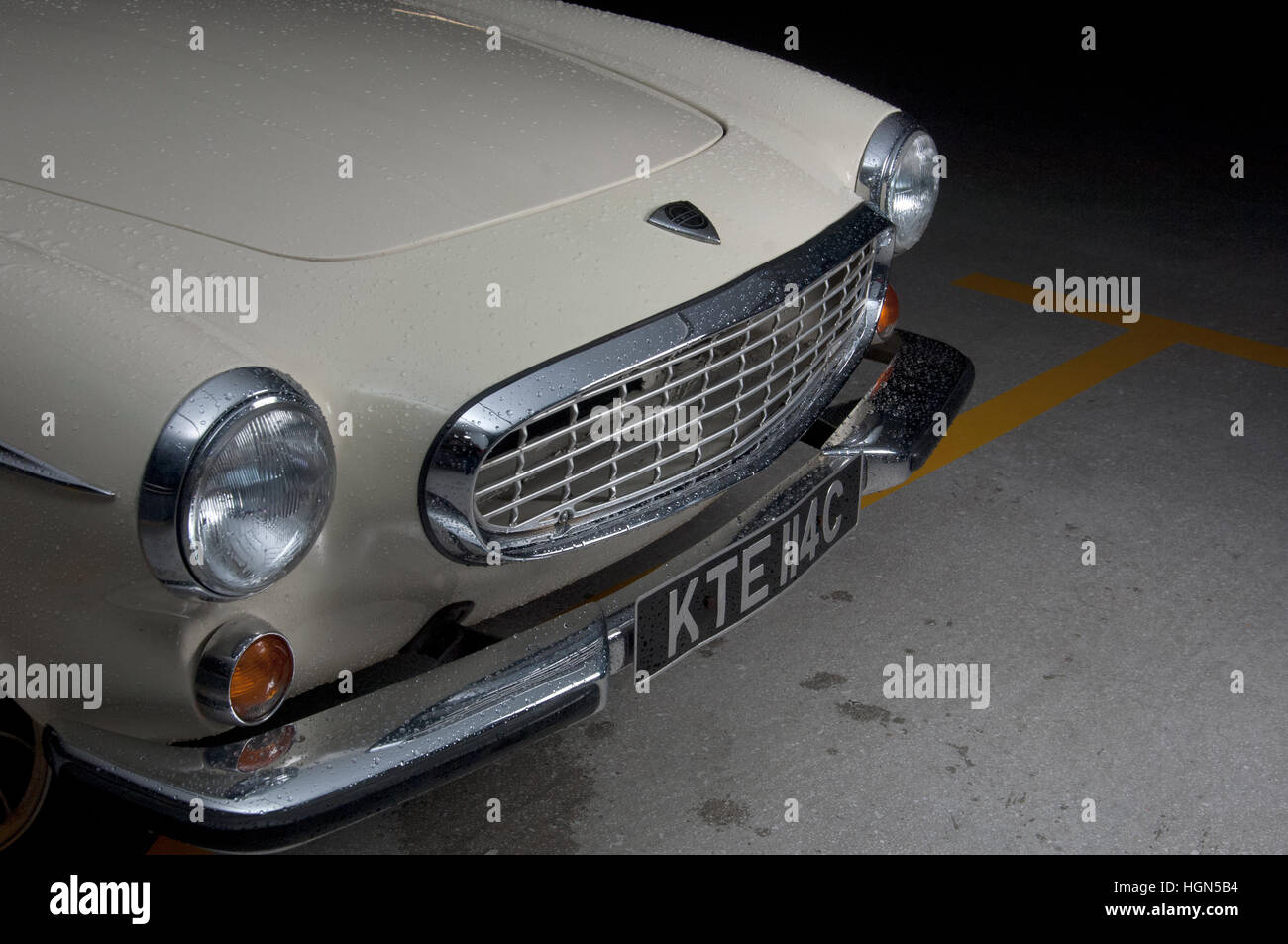 Volvo P1800 classic Swedish sports car - as driven by Roger Moore in The Saint - Stock Image