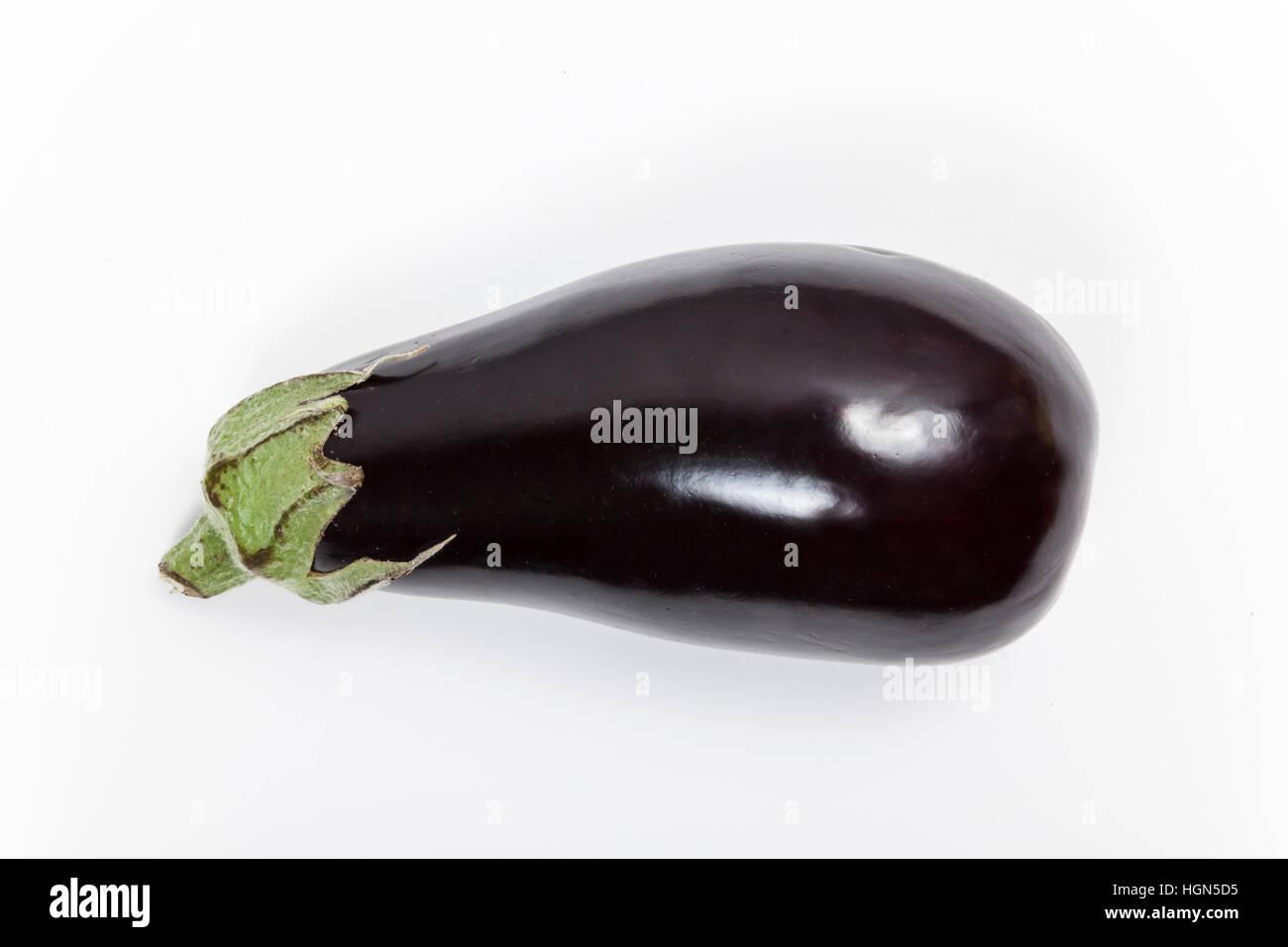 Aubergine isolated - Stock Image