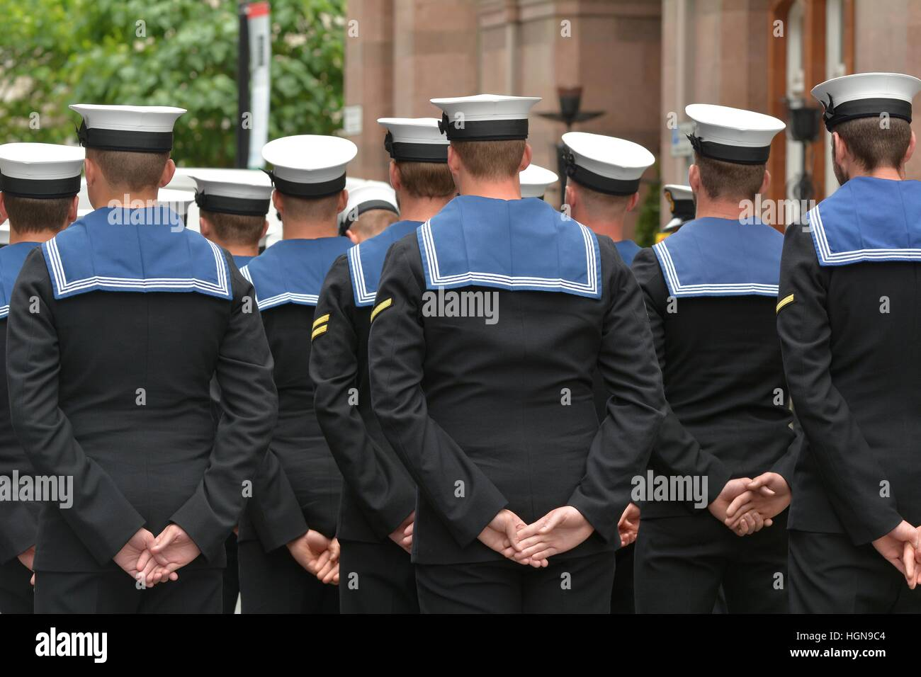 Battle of the Somme commemoration parade in Manchester - Stock Image