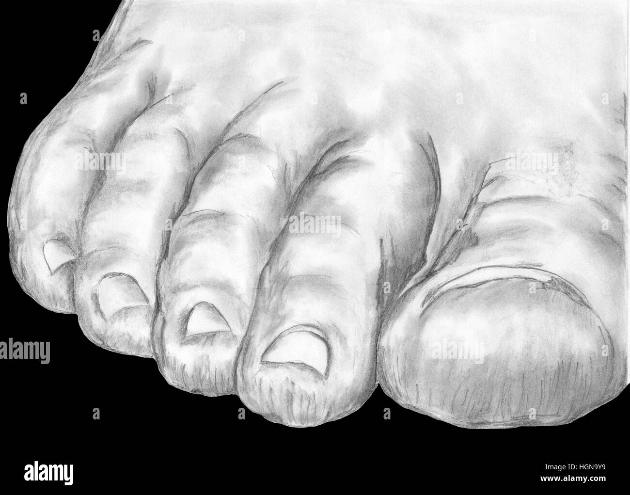 Heavy Foot - representing oppression,defeat,overbearing weight,pressure etc. - Stock Image