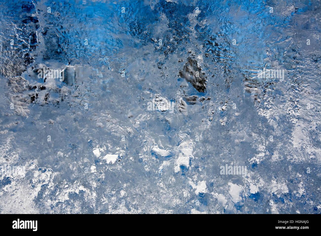 thin sheet of ice Stock Photo