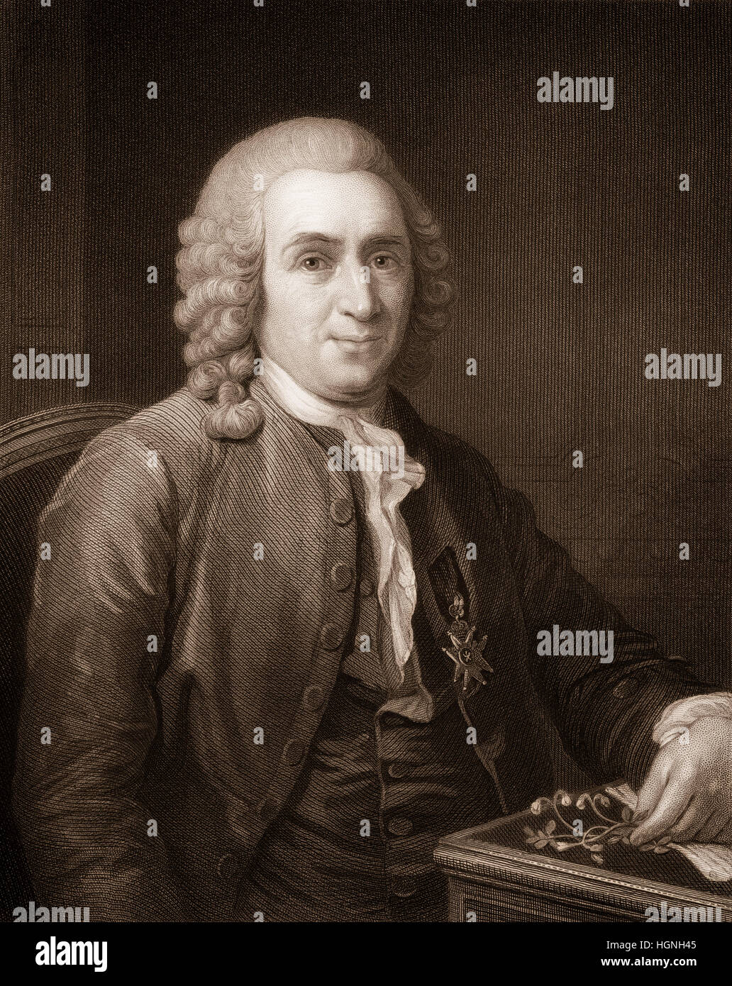 Carl Linnaeus,  or Carl von Linné, 1707-1778, a Swedish botanist, physician, and zoologist, Carl von Linné, - Stock Image