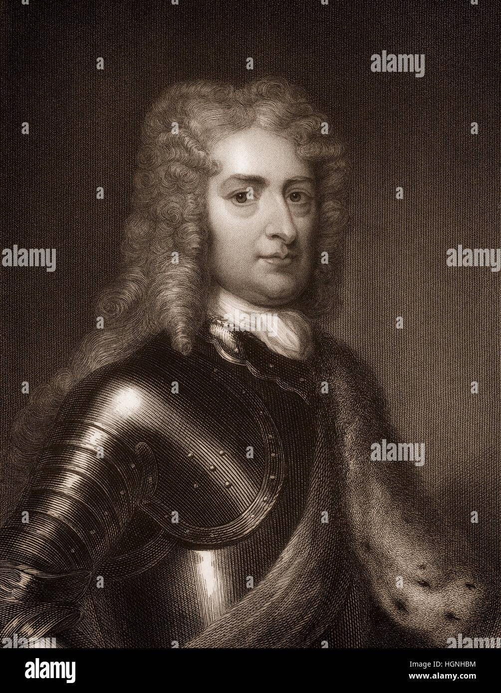 John Churchill, 1st Duke of Marlborough, 1650-1722, an English soldier and statesman - Stock Image