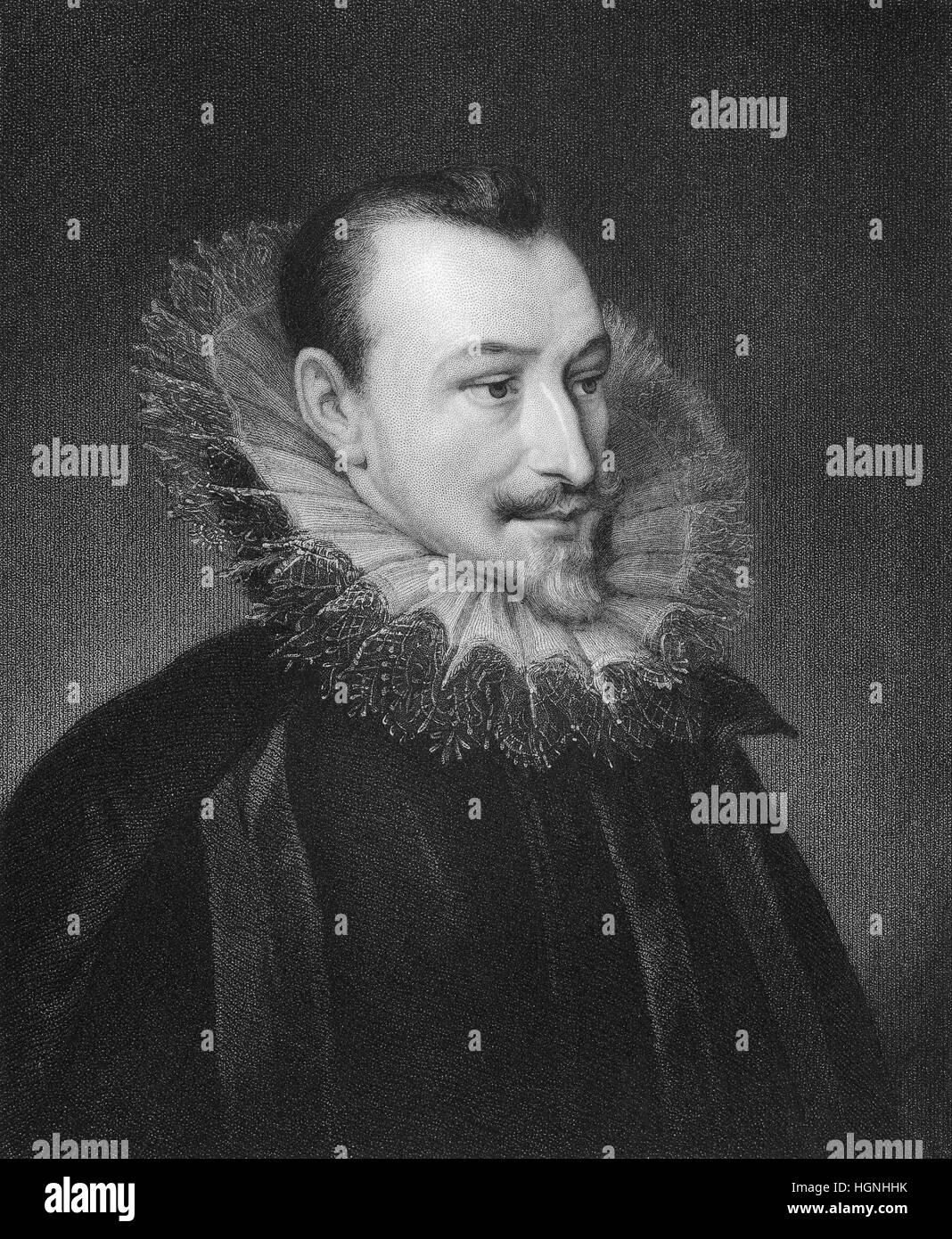 Edmund Spenser, ca. 1552 - 1599, an English poet - Stock Image