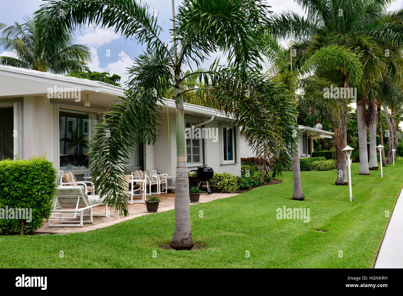 Coop residential housing Pompano Beach, Florida - Stock Image