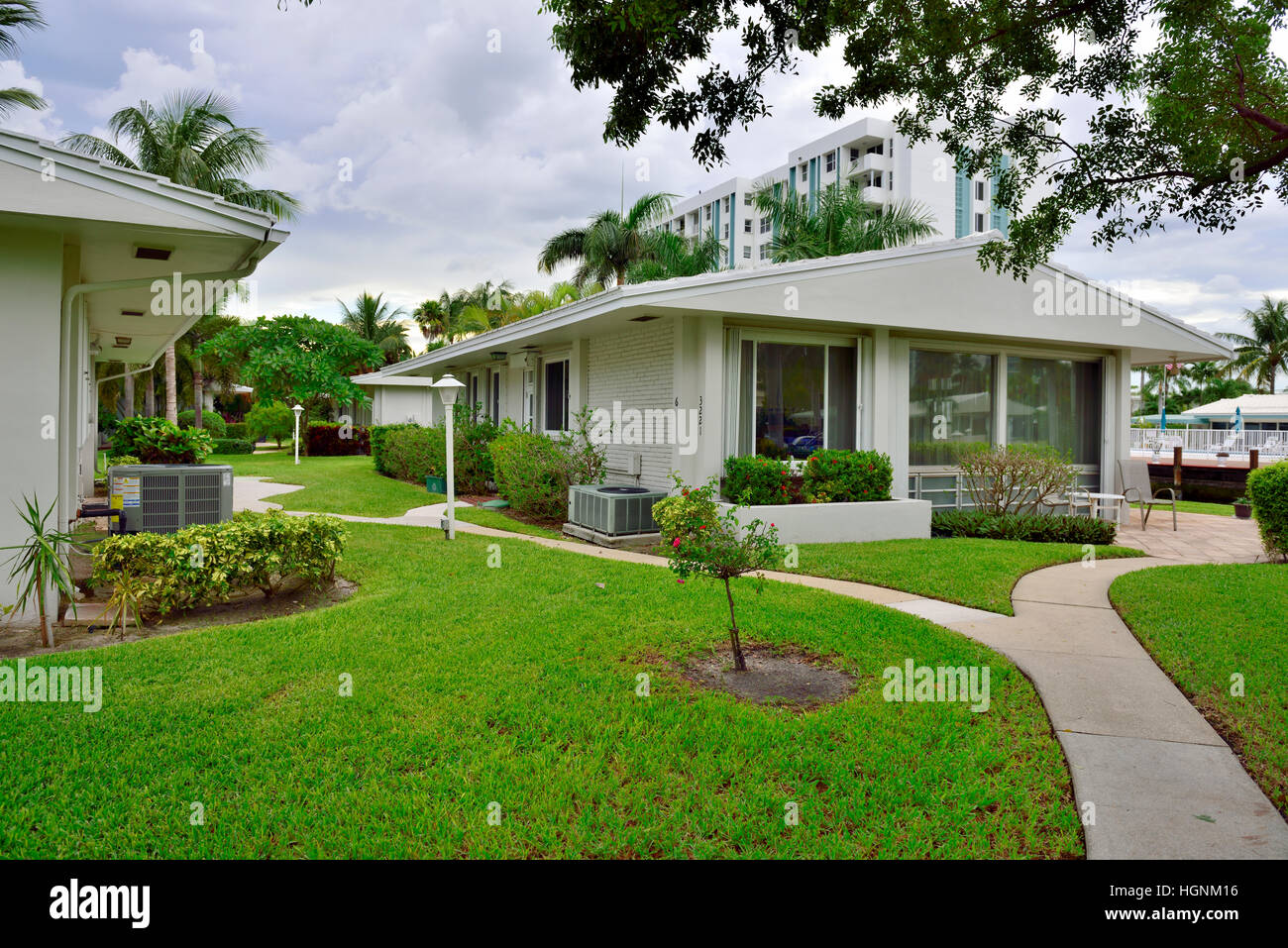 Coop residential housing Pompano Beach, Florida, - Stock Image