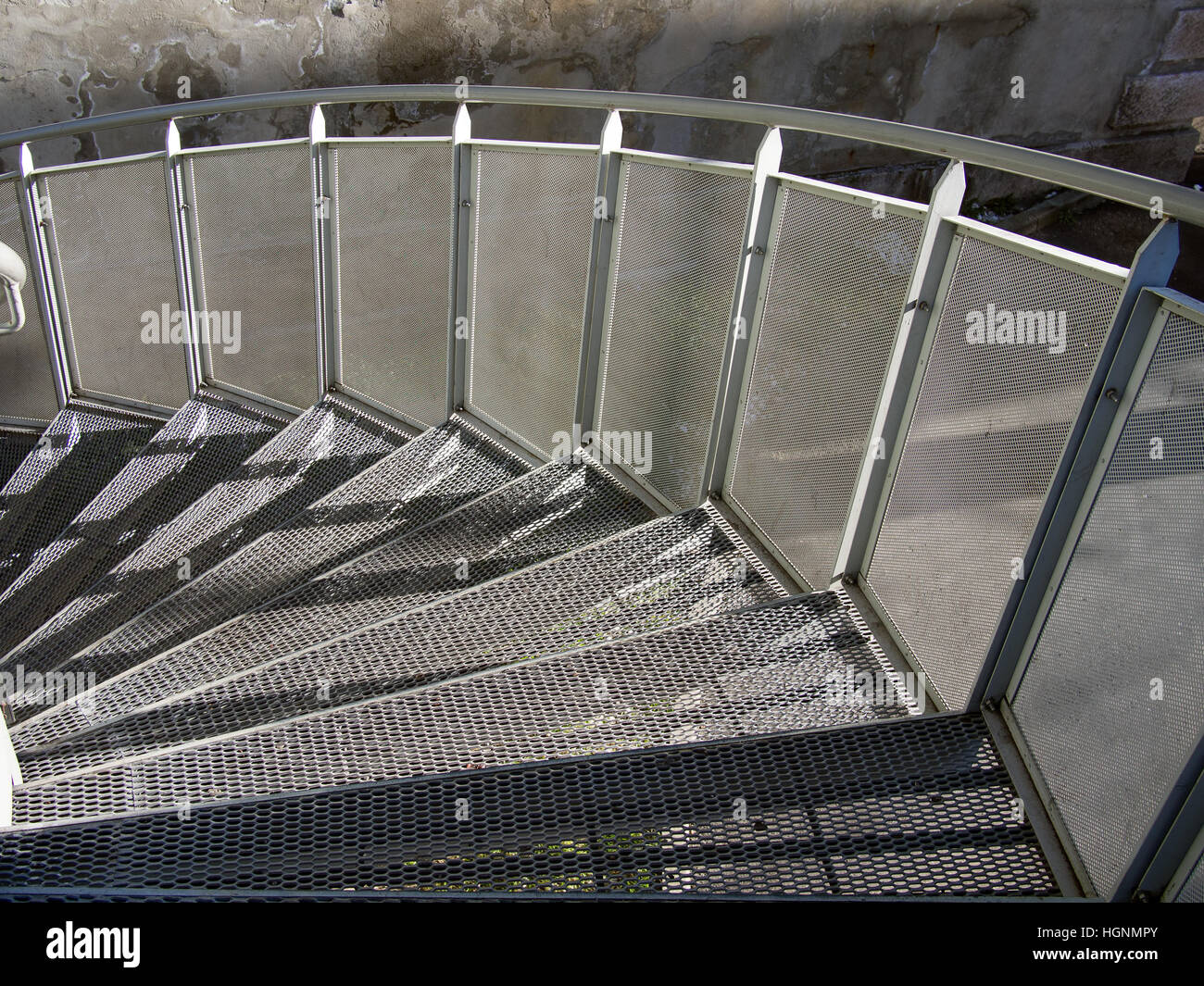 Modern spiral staircase detail. Architecture. - Stock Image
