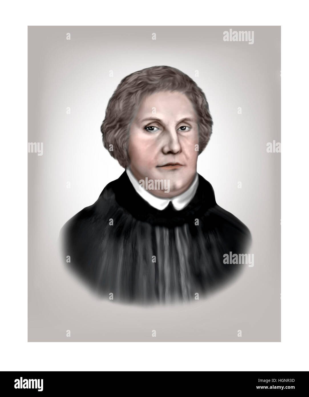 Martin Luther, 1483-1546, Religious Reformer - Stock Image