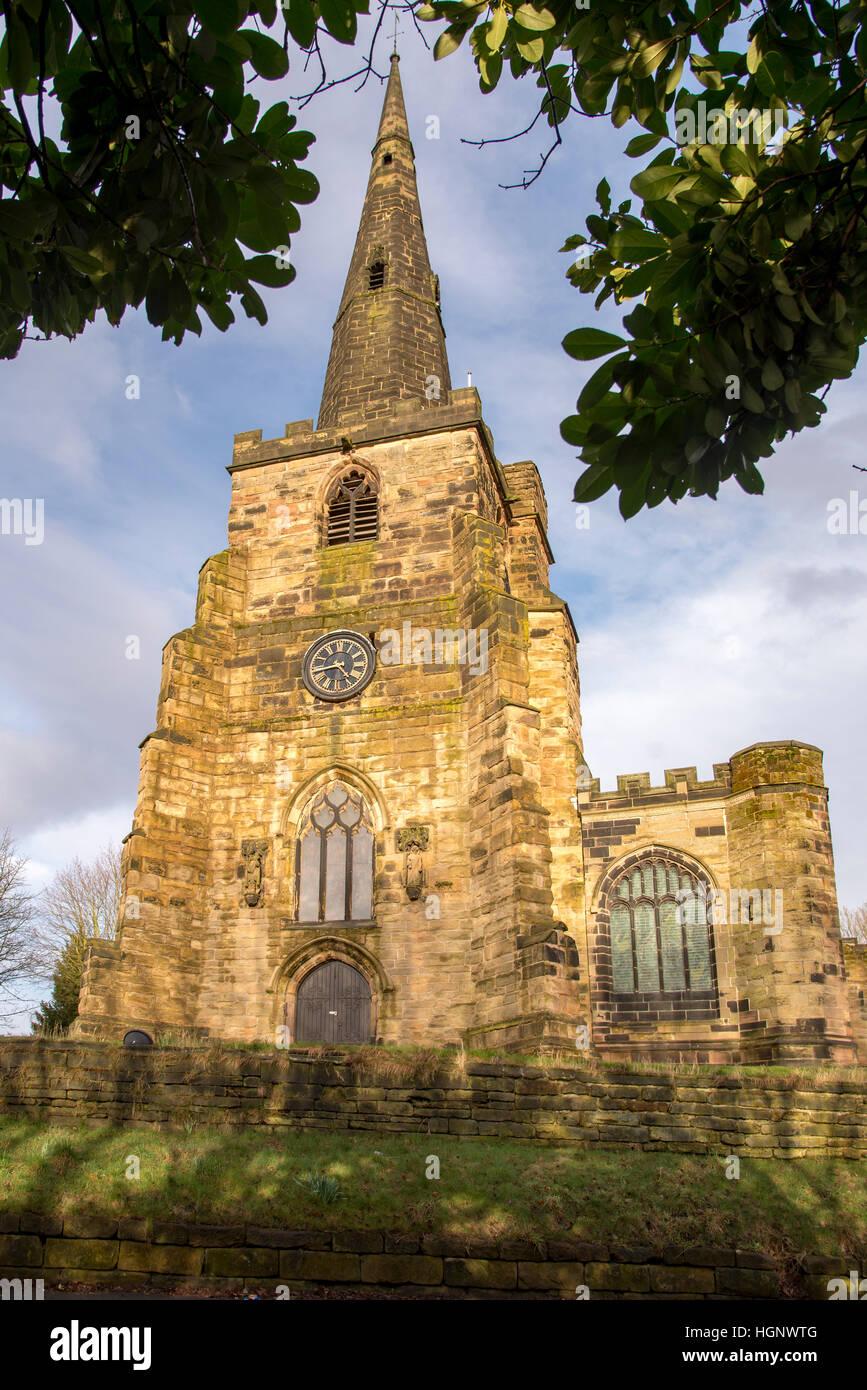 Winwick parish church of St Oswald. Cheshire. 2013 - Stock Image