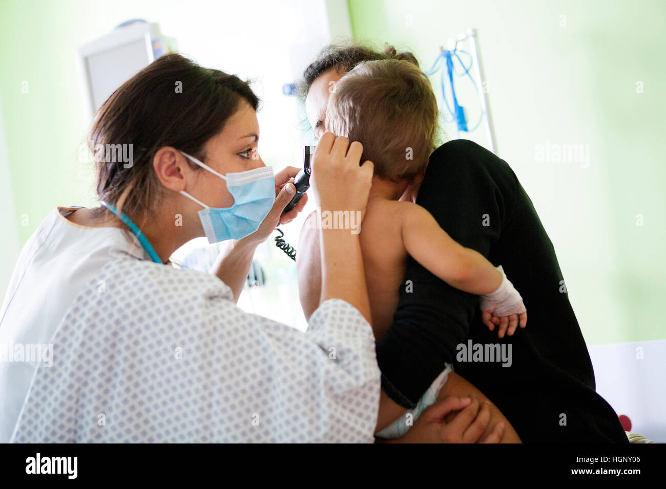 PEDIATRIC EMERGENCY UNIT - Stock Image