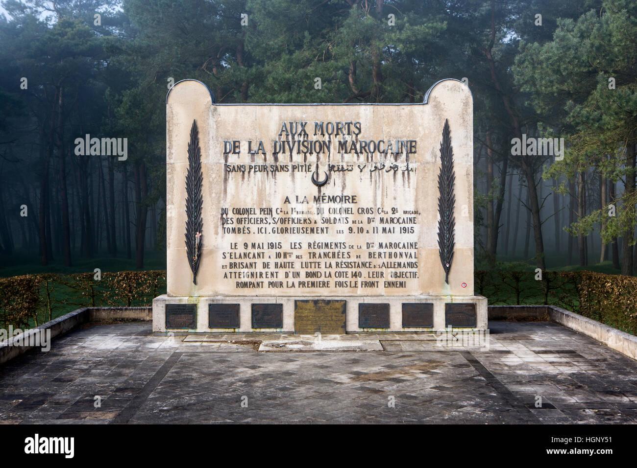 Moroccan War Memorial, Arras, France. - Stock Image