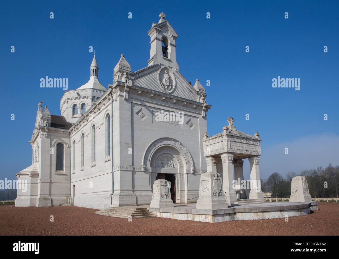 Notre Dame de Lorette, Arras, France. - Stock Image