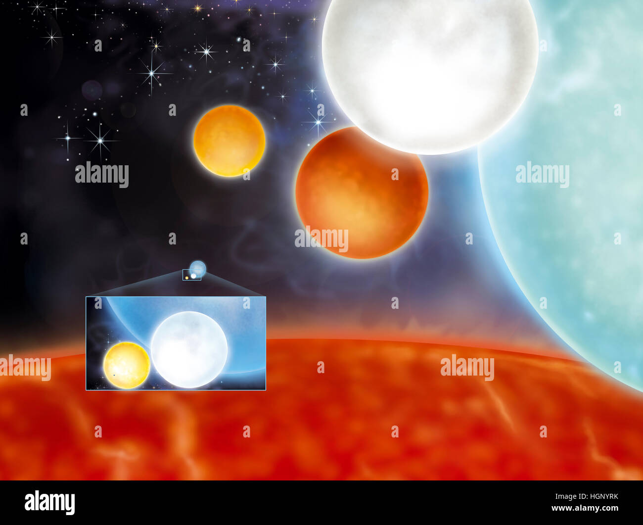 STAR, ILLUSTRATION - Stock Image