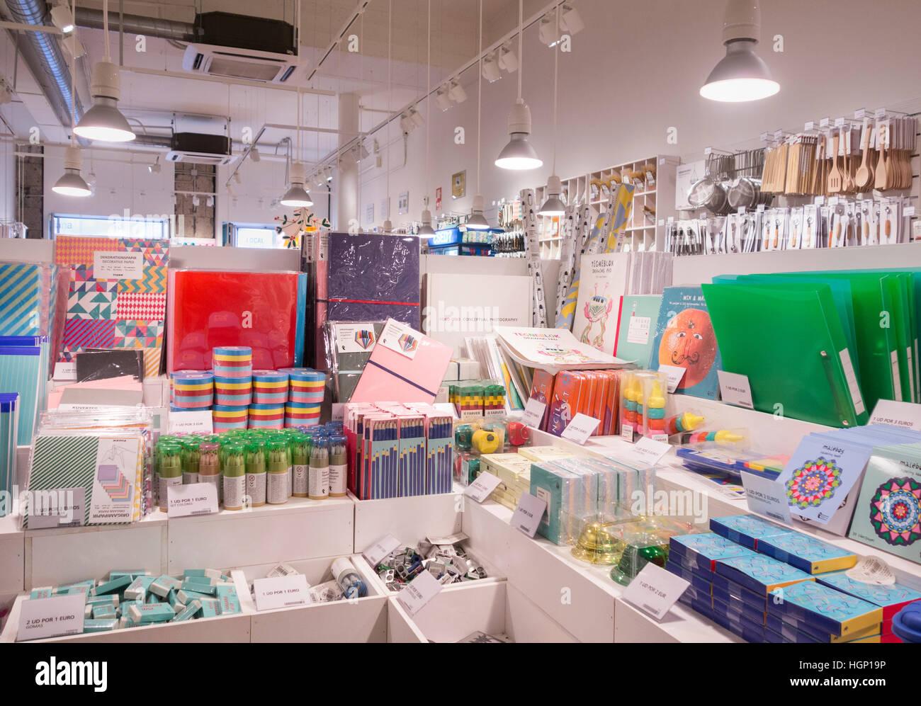 Flying Tiger Copenhagen store in Spain Stock Photo ...