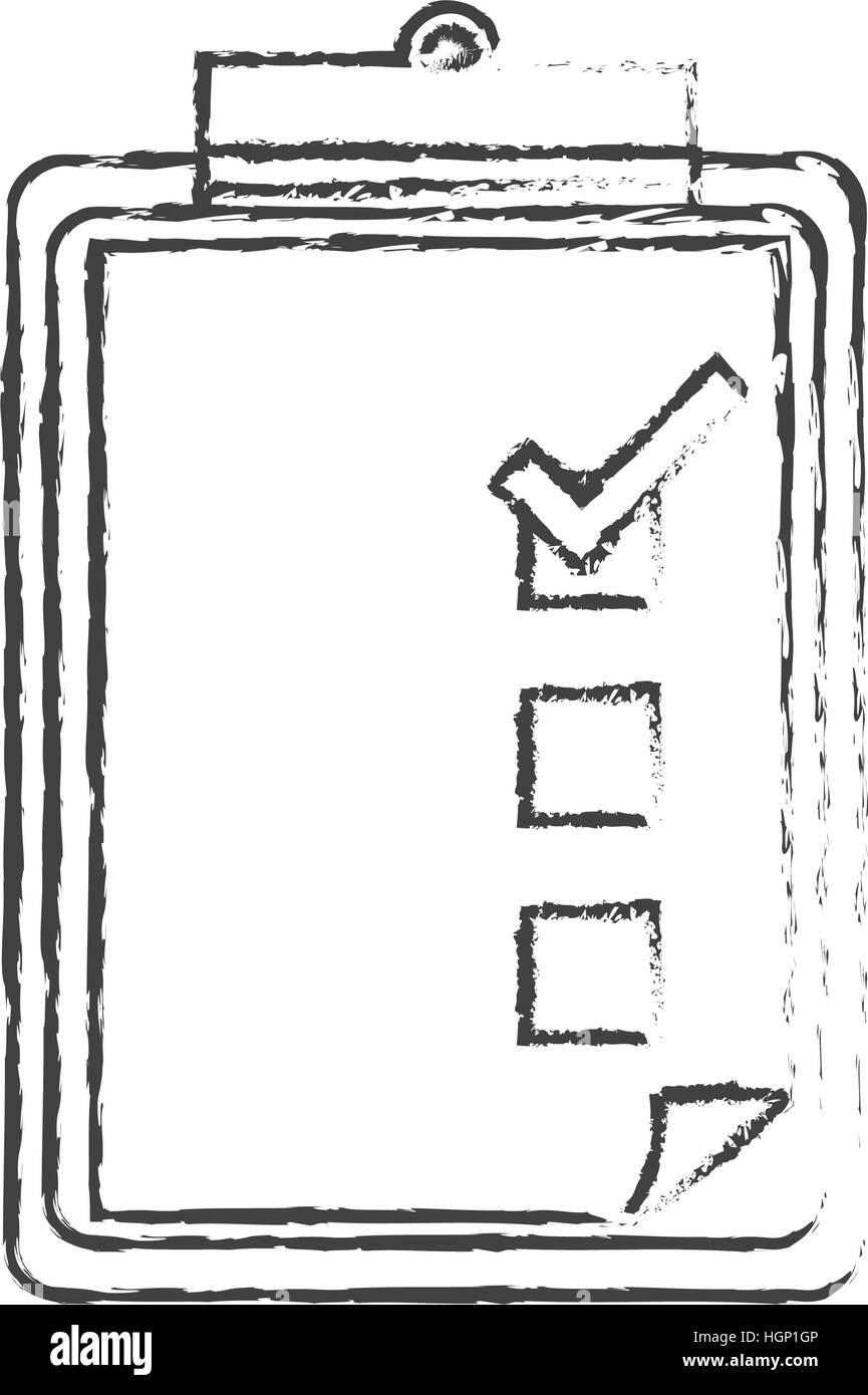 blank checklist on clipboard icon image vector illustration design
