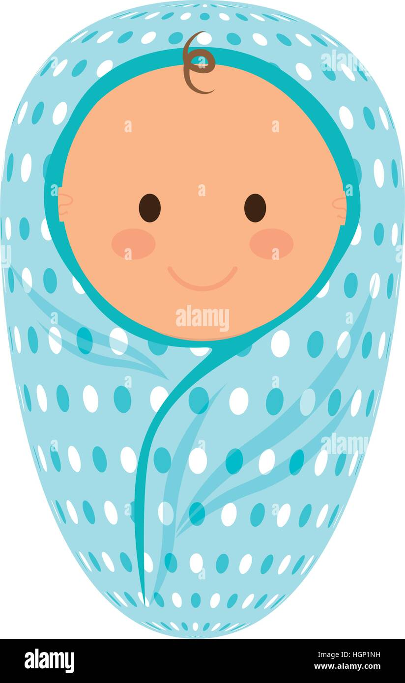 Cute baby boy wrapped in a blanket icon over white background stock cute baby boy wrapped in a blanket icon over white background colorful design vector illustration voltagebd Choice Image
