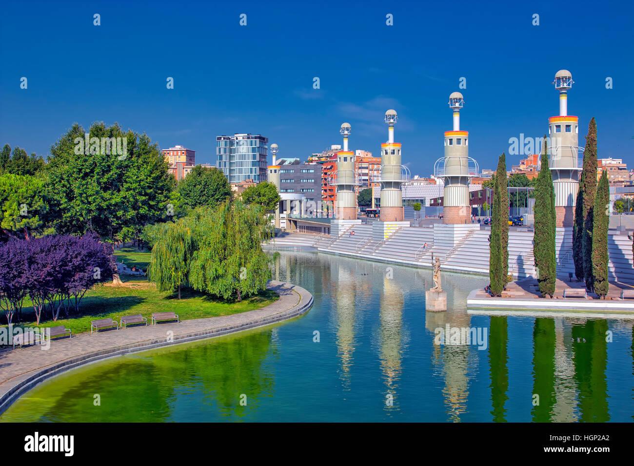 Espana Industrial park in Barcelona - Stock Image
