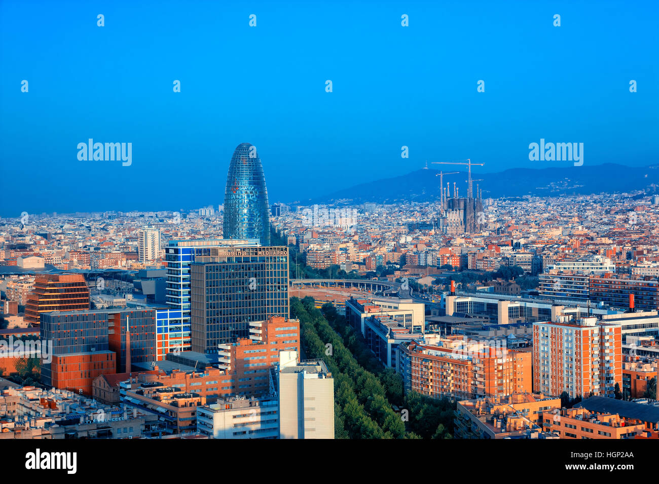 Barcelona skyline - Stock Image