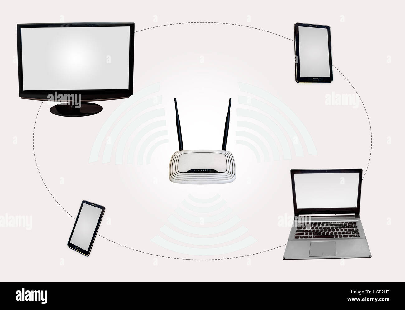 Modem Diagram Stock Photos Images Alamy Wireless Internet Connectivity Zone With Router Desktop Monitor Laptop Tab Smart Phone Isolated In White