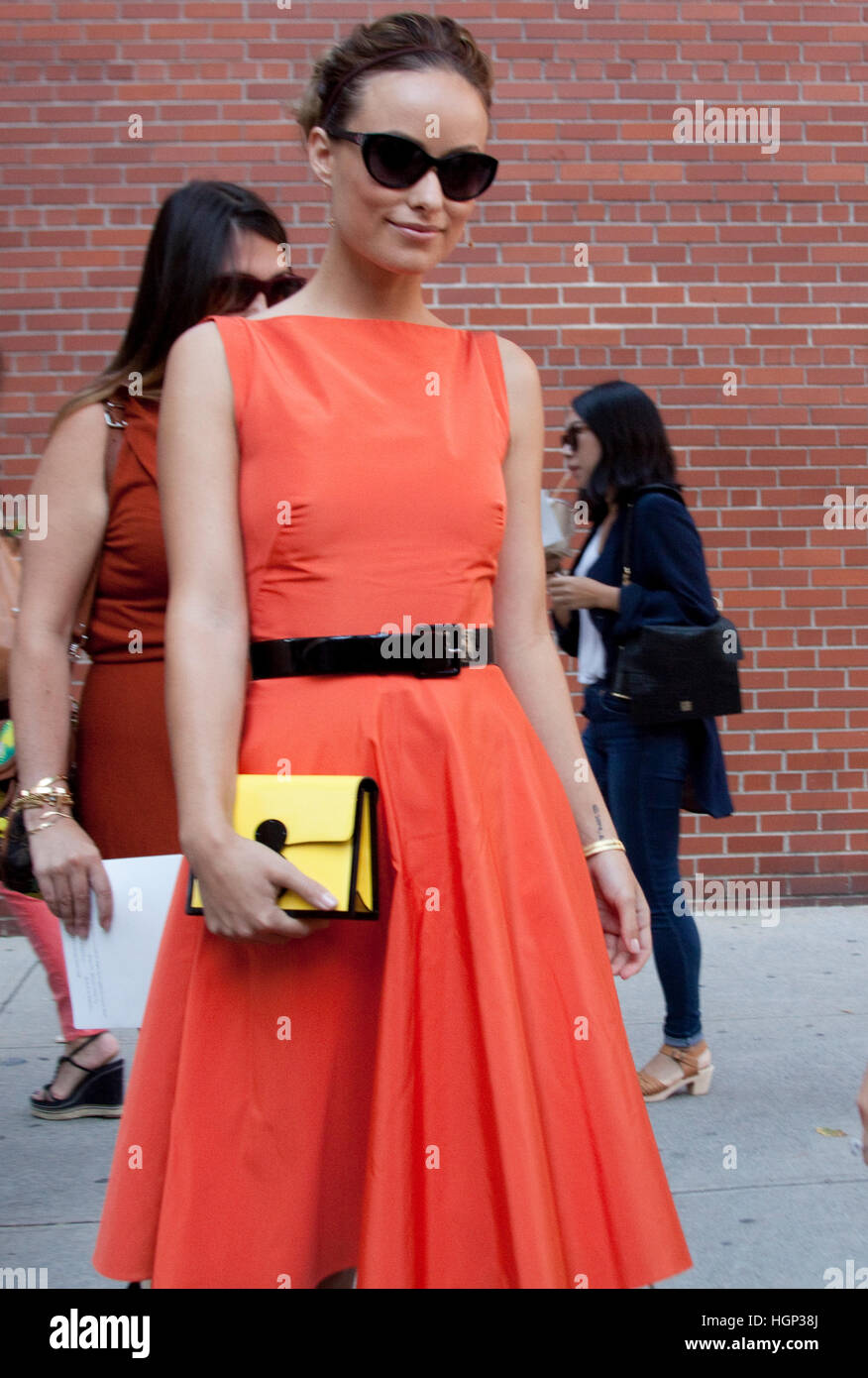 Jessica Alba after the Ralph Lauren Spring Summer Show during New York Fashion week - Stock Image