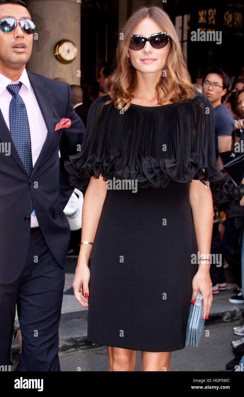 Olivia Palermo after the Marchesa fashion show during New York fashion week - Stock Image