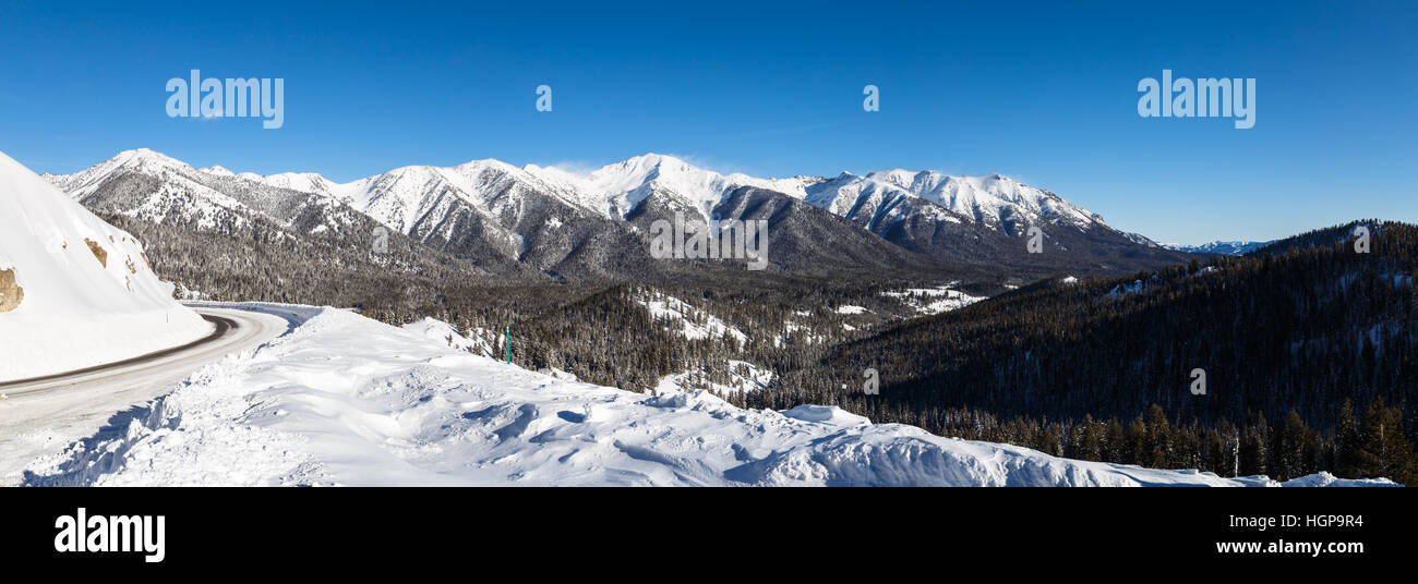 View from a turn off on Highway 75 Idaho. - Stock Image