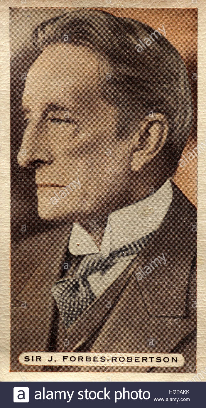 Sir Johnston Forbes-Robertson, renowned Scottish actor on stage - Stock Image