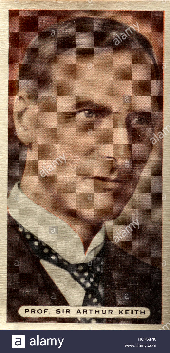 Portrait of Professor Sir Arthur Keith an eminent Scottish anthropologist and anatomist, 1866-1955. - Stock Image