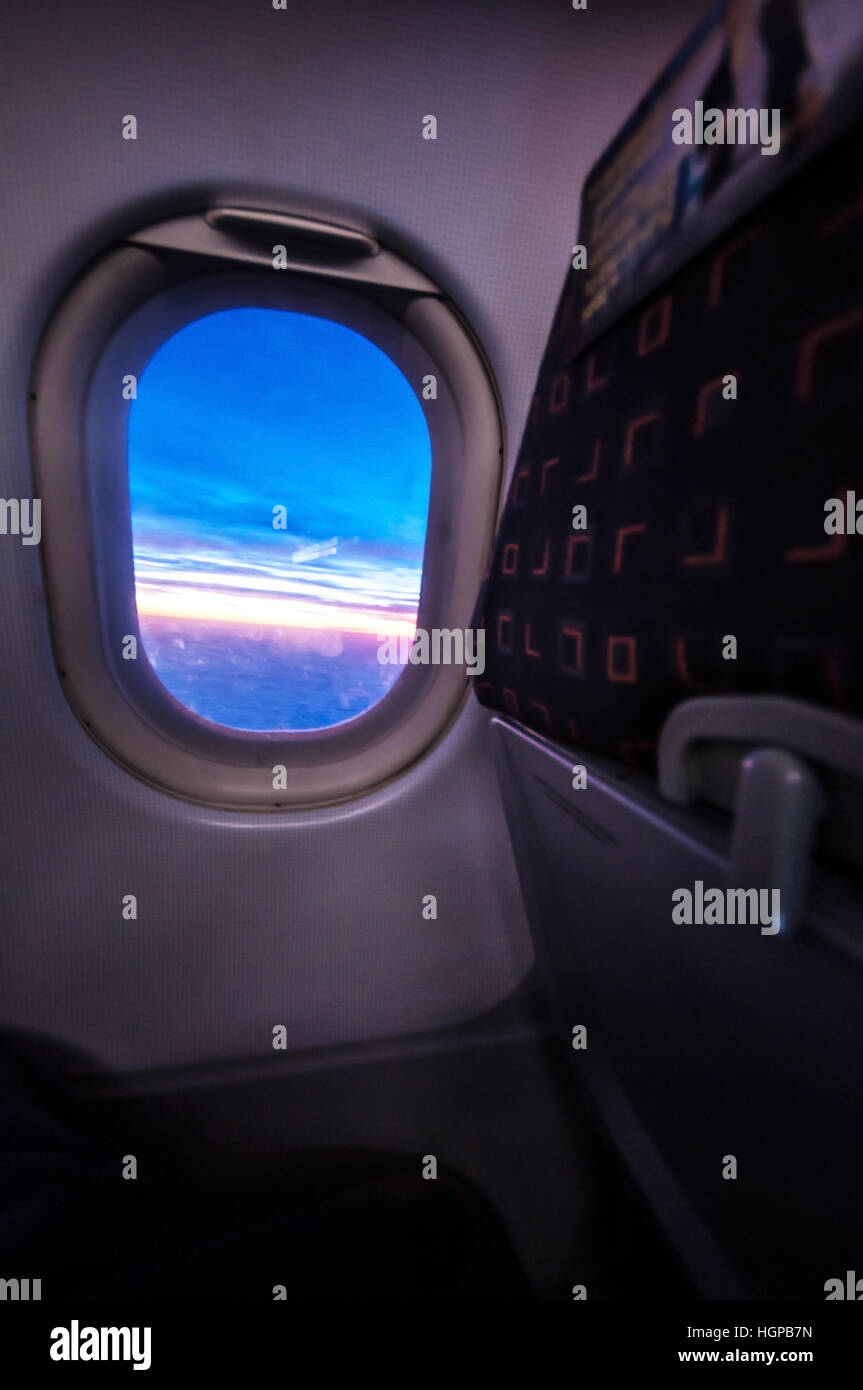 Miraculous View Of A Sunrise Through The Window Of A Plane An Easyjet Bralicious Painted Fabric Chair Ideas Braliciousco