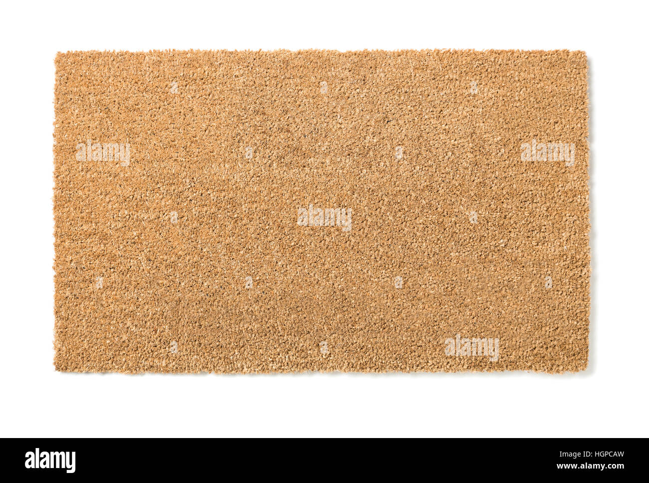 Blank Home Sweet Home Welcome Mat Isolated on a White Background Ready For Your Own Text. - Stock Image