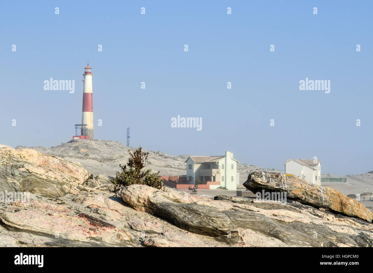 Lighthouse at Diaz Point, Luderitz, Namibia - Stock Image