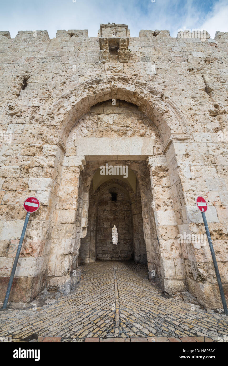 Zion Gate In The Southern Wall Of Jerusalem S Old City Is
