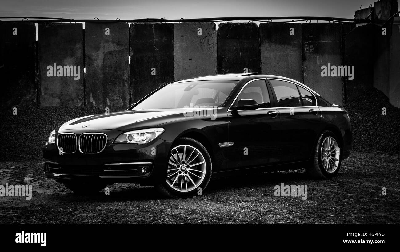BMW 7 Series 750i 750d xdrive F01 LCI Wallpaper Background Full HD 4K UHD - Stock Image