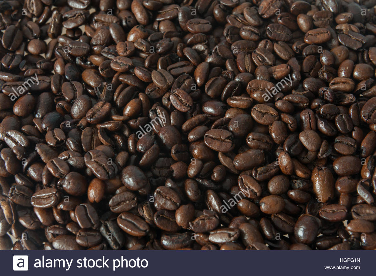 Frame filling coffee beans. - Stock Image