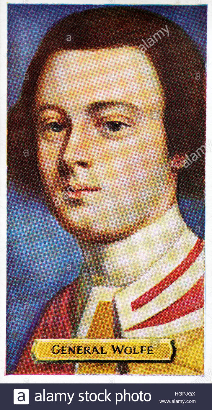 Major General James Wolfe 1727 – 1759, British army officer - Stock Image
