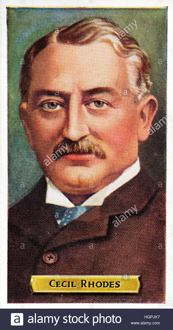 Cecil John Rhodes 1853 -1902, British businessman and politician in South Africa - Stock Image
