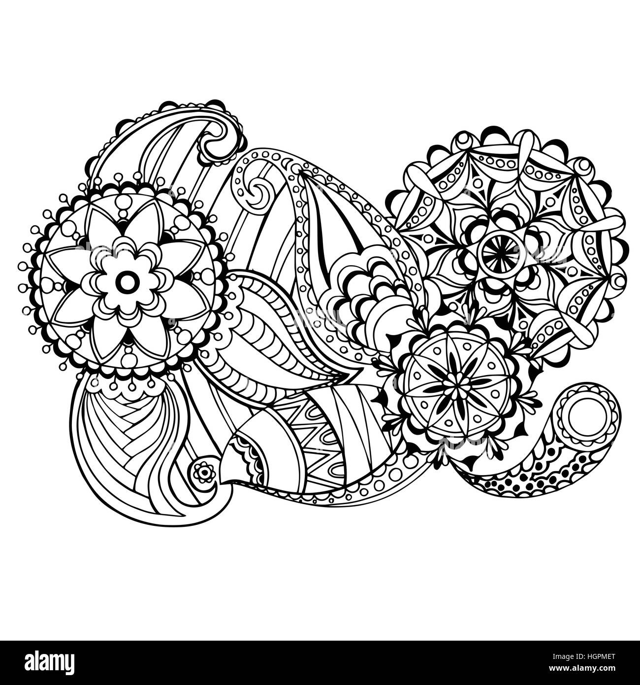 Page For Coloring Book Very Interesting And Relaxing Job Children Adults Hand Drawn Doodle Antistress Zentangle Design Sketch Colouring