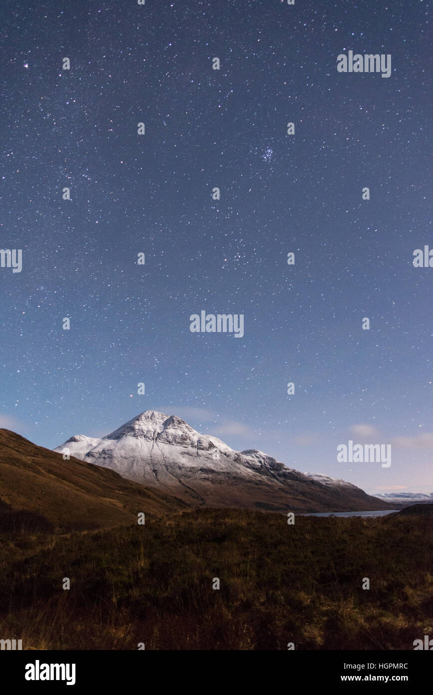 cul mor at night in the winter - Stock Image
