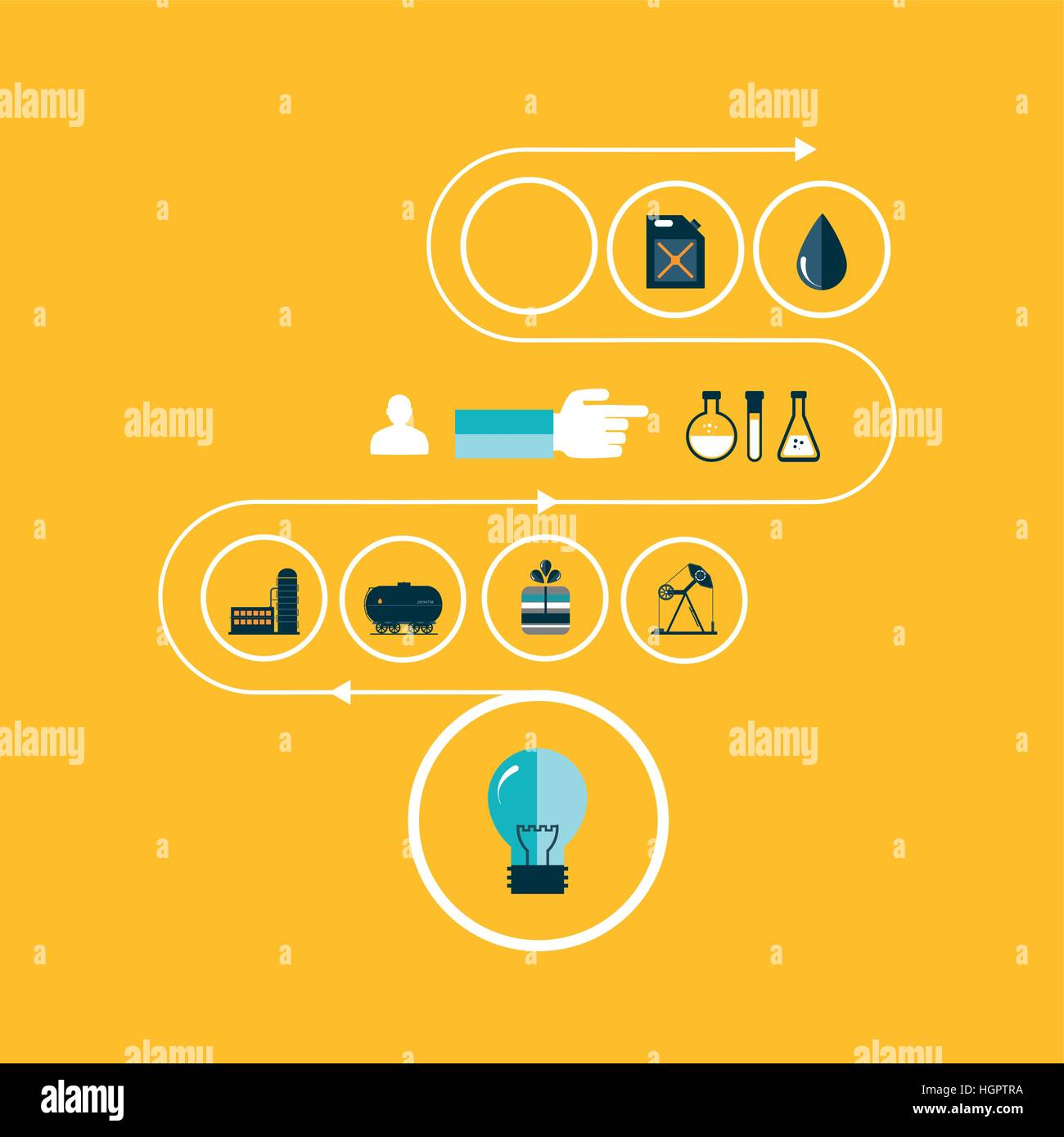 Set vector icons of fuel and petroleum industries - Stock Vector