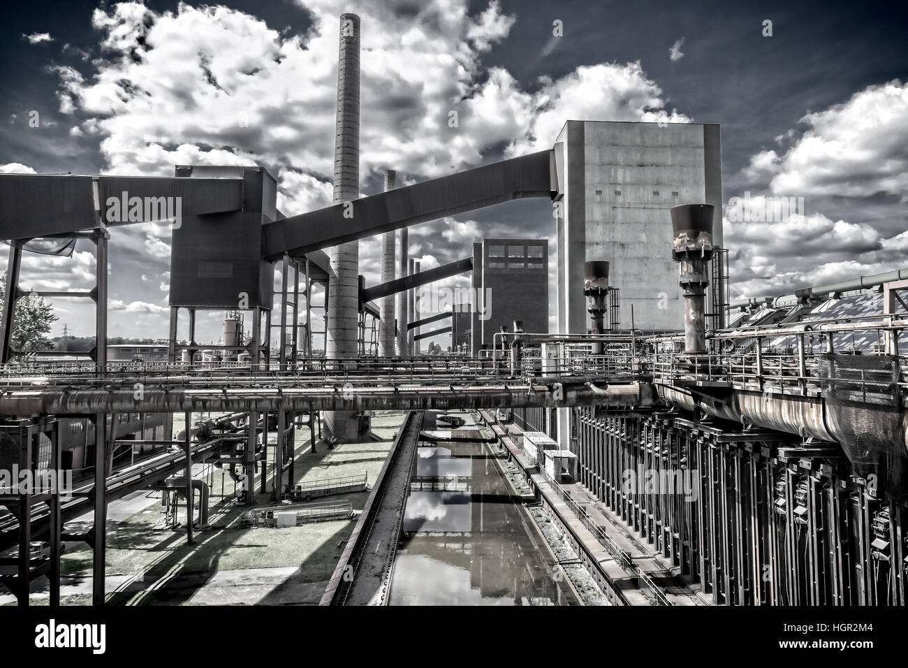 Outdoor facility of the 'Zeche Zollverein' in Essen-Germany. The closed coke oven plant is world heritage - Stock Image