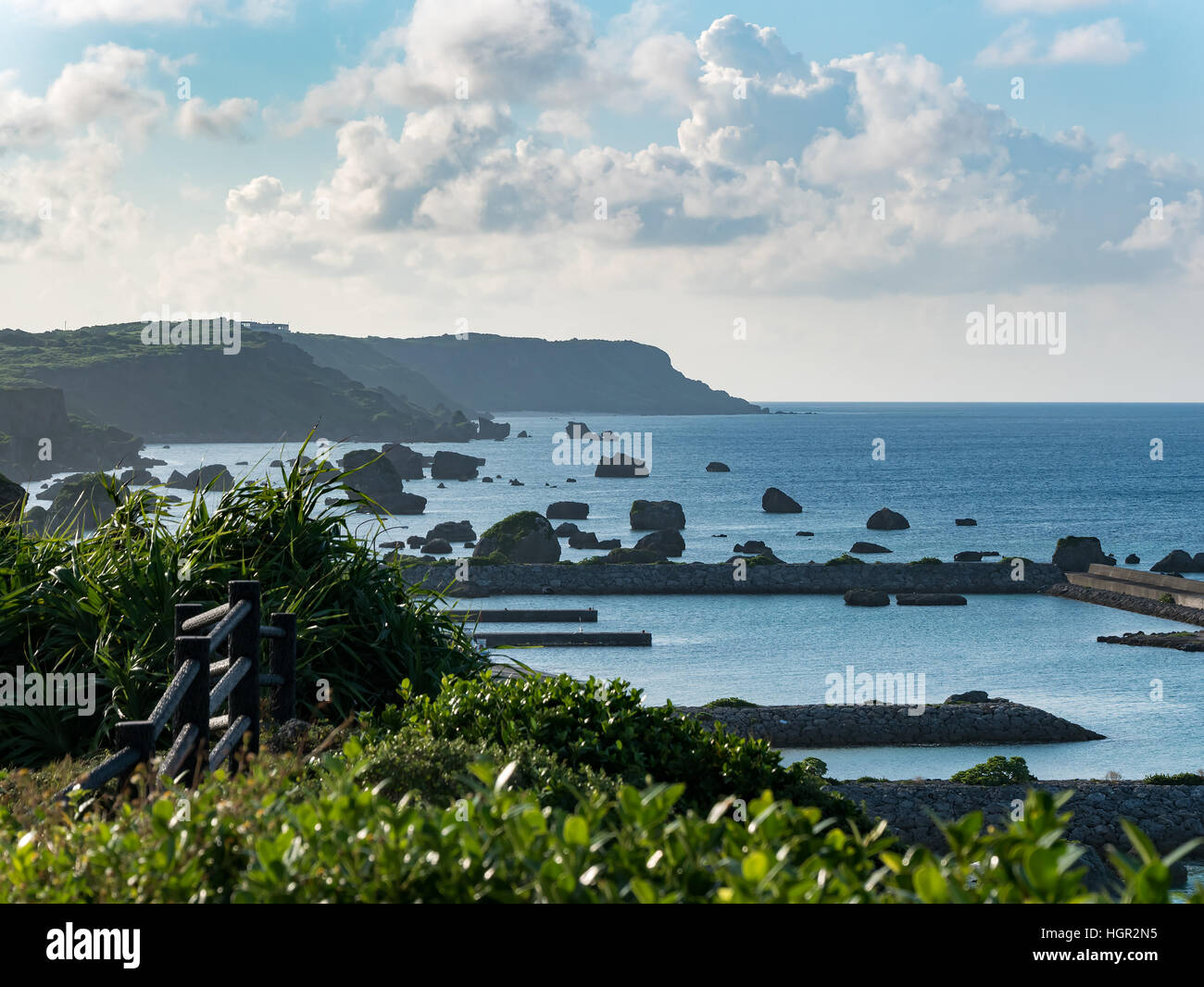 Cape of Higashi Henna Zaki of Miyako Island in Okinawa, Japan. - Stock Image