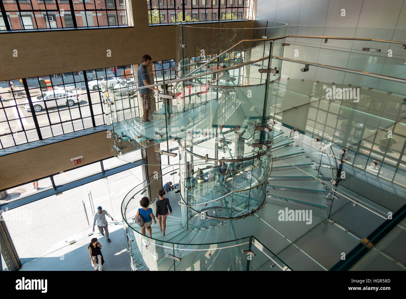 Nice Glass Staircase / Stairs Inside The SoHo Apple Store   Manhattan, New York  City