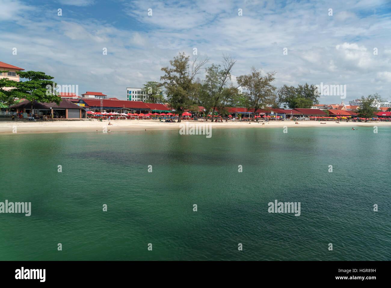 Serendipity Beach in Sihanoukville, Cambodia, Asia - Stock Image