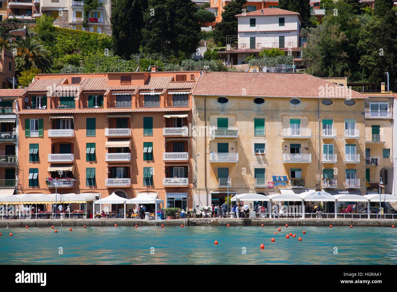 Promenade, Porto Santo Stefano, Argentario, Tuscany, Italy, Europe - Stock Image