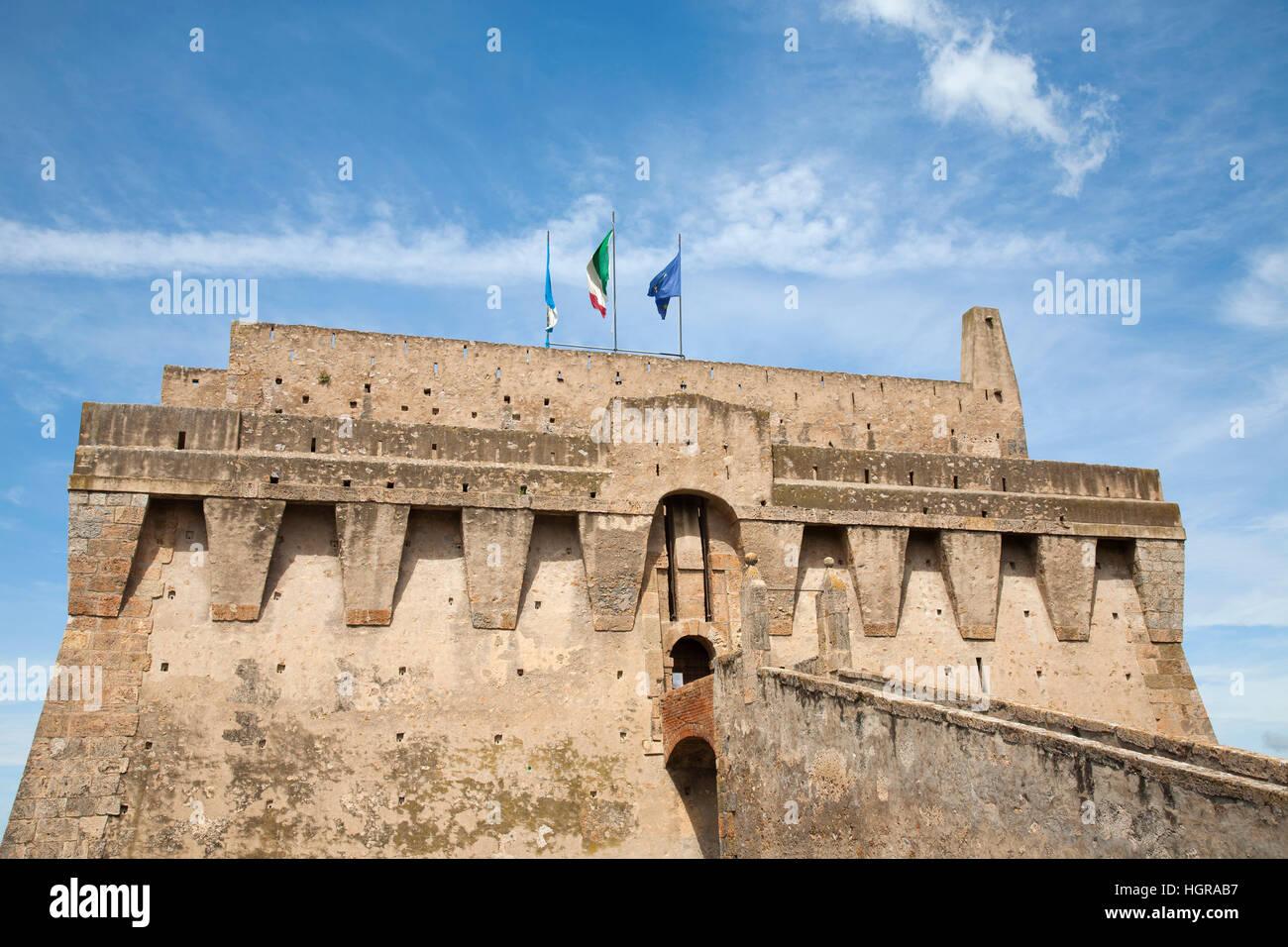 La Rocca, Porto Santo Stefano, Argentario, Tuscany, Italy, Europe - Stock Image