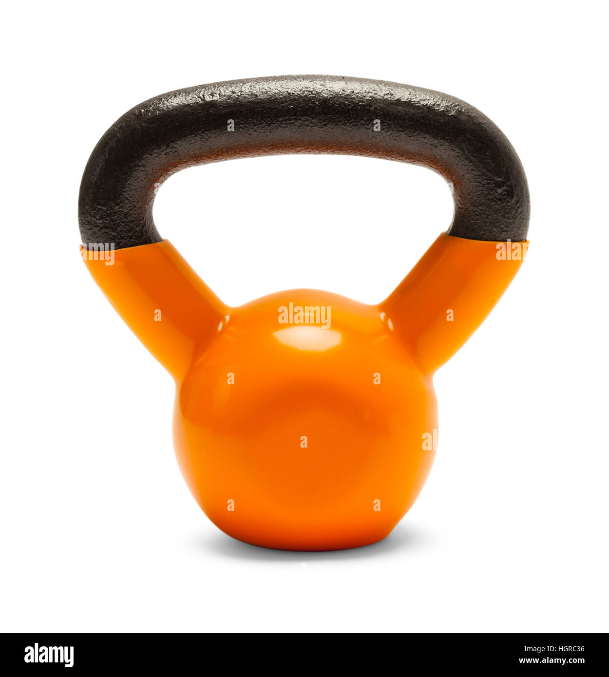 Kettlebell Exercise Hand Weight Isolated on White Background. - Stock Image