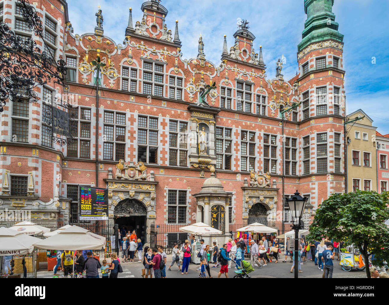 Poland, Pomerania, Gdansk (Danzig), the floridly decorated eastern facade of the Dutch-style Great Arsenal (Großes - Stock Image