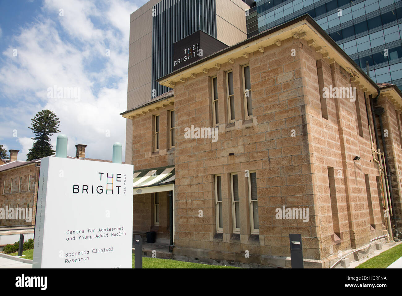 Bright alliance in Sydney, cancer research involving Prince of Wales hosp , Lowy cancer centre, UNSW, nelune  centre, - Stock Image